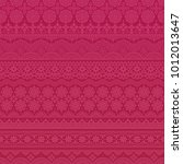 pink background with lace trims. | Shutterstock .eps vector #1012013647