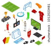 football or soccer game icons... | Shutterstock .eps vector #1012023481
