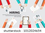 human resource or hr management ... | Shutterstock .eps vector #1012024654