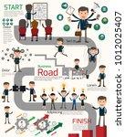 business success concept...   Shutterstock .eps vector #1012025407