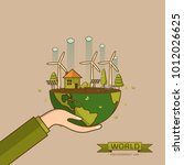 world environment day. vector... | Shutterstock .eps vector #1012026625