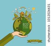 world environment day. vector... | Shutterstock .eps vector #1012026631