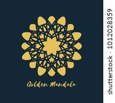 ornamental card with golden... | Shutterstock .eps vector #1012028359