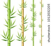 realistic 3d detailed bamboo... | Shutterstock .eps vector #1012032205