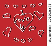vector valentine's day holiday... | Shutterstock .eps vector #1012036675