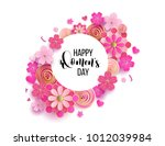 happy mother's day layout... | Shutterstock .eps vector #1012039984