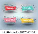 flat linear promotion ribbon... | Shutterstock .eps vector #1012040134