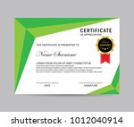 modern certificate vector | Shutterstock .eps vector #1012040914