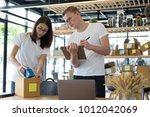 startup small business owner... | Shutterstock . vector #1012042069