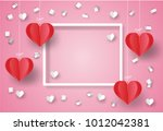valentine's day concept. white... | Shutterstock .eps vector #1012042381
