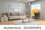 interior living room. 3d... | Shutterstock . vector #1012043491