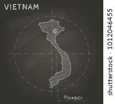 vietnam map hand drawn with... | Shutterstock .eps vector #1012046455