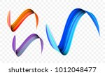 acrylic paint brush stroke.... | Shutterstock .eps vector #1012048477