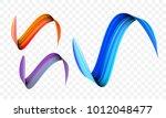acrylic paint brush stroke.... | Shutterstock .eps vector #1012048477