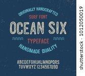 original handmade alphabet.... | Shutterstock .eps vector #1012050019