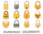 padlock vector lock for safety...   Shutterstock .eps vector #1012050475