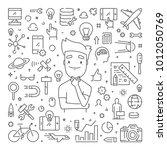 vector line web concept for... | Shutterstock .eps vector #1012050769