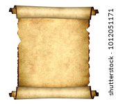 old parchment. isolated on... | Shutterstock . vector #1012051171