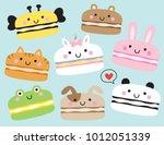 vector illustration of cute... | Shutterstock .eps vector #1012051339