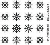 ship wheel icon set | Shutterstock .eps vector #1012053295