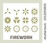 firework exploding element... | Shutterstock .eps vector #1012053835
