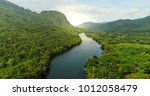 beautiful natural scenery of... | Shutterstock . vector #1012058479