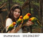 Teenager Girl In Asian Zoo...