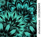 seamless floral background.... | Shutterstock .eps vector #1012063045