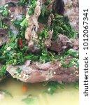 delicious sour spicy pork spare ... | Shutterstock . vector #1012067341