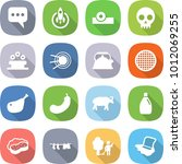flat vector icon set   message... | Shutterstock .eps vector #1012069255