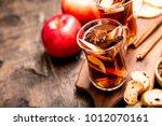 hot spicy beverage. hot drink ... | Shutterstock . vector #1012070161