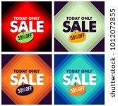 sale banner discount vector... | Shutterstock .eps vector #1012072855