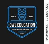 owl   vector logo icon... | Shutterstock .eps vector #1012077229