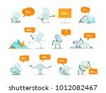 robot set 404 error page not... | Shutterstock .eps vector #1012082467