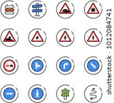 line vector icon set   sign... | Shutterstock .eps vector #1012084741