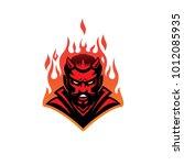 hell devil modern logo mascot   Shutterstock .eps vector #1012085935