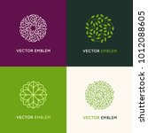 vector set of logo design... | Shutterstock .eps vector #1012088605