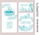 set of postcards  flyers... | Shutterstock .eps vector #1012090171