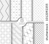 set of vector seamless patterns.... | Shutterstock .eps vector #1012092355