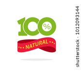 100   natural vector green and... | Shutterstock .eps vector #1012093144