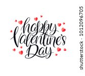 happy valentines day. beautiful ... | Shutterstock .eps vector #1012096705