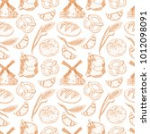 cute seamless pattern with a...   Shutterstock .eps vector #1012098091