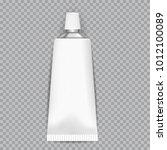 realistic  white tubes for glue ... | Shutterstock .eps vector #1012100089