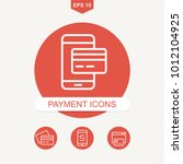 payment methods and pay online... | Shutterstock .eps vector #1012104925