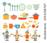 set of simple icons for... | Shutterstock .eps vector #1012106767