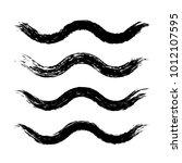 grunge waves brush strokes. set ... | Shutterstock .eps vector #1012107595