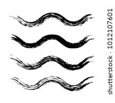 grunge waves brush strokes. set ... | Shutterstock .eps vector #1012107601