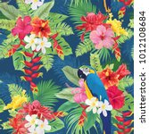 beautiful seamless pattern with ... | Shutterstock .eps vector #1012108684