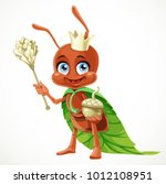 cute cartoon ant queen in a... | Shutterstock .eps vector #1012108951