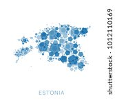 map of estonia filled with...   Shutterstock .eps vector #1012110169